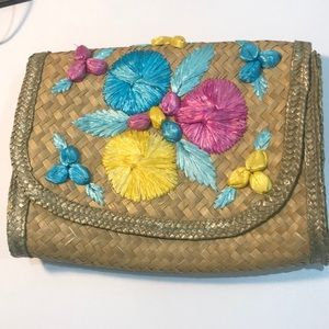 Top shop crossbody straw bag